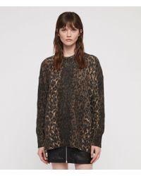 AllSaints - Leopard Sweater - Lyst