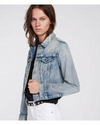AllSaints - Hay Cropped Jacket - Lyst