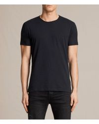 AllSaints - Figure Crew T-shirt - Lyst