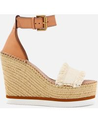 See By Chloé - Women's Glyn Canvas Espadrille Wedge Sandals - Lyst