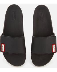 9de562c0ae8bb HUNTER - Original Adjustable Slide Sandals - Lyst