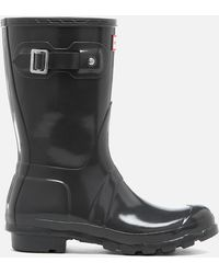 HUNTER - Women's Original Short Gloss Wellies - Lyst