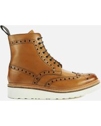 Grenson - Men's Fred V Brogue Boots - Lyst