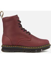 Dr. Martens - Lexington Cube Flex Leather 8-eye Boots - Lyst