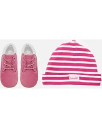 Timberland - Babies' Crib Booties With Hat Gift Set - Lyst