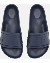 HUNTER - Original Slide Sandals - Lyst