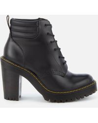 Dr. Martens - Persephone 6-eye Padded Collar Heeled Boots - Lyst