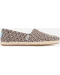 TOMS - Women's Seasonal Classic Diamond Geo Slip On Court Shoes - Lyst