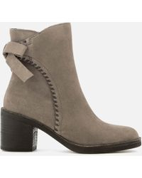 UGG - Women's Fraise Whipstitch Suede Heeled Ankle Boots - Lyst