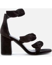 Senso - Melvy Iv Velvet Triple Strap Heeled Sandals - Lyst