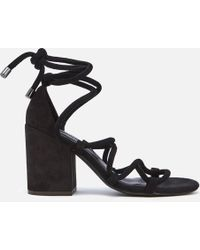 Senso - Wyatt Suede Lace Up Blocked Heeled Sandals - Lyst
