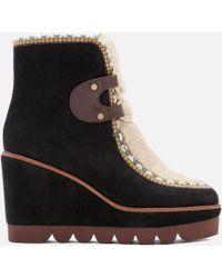 See By Chloé - Women's Flatform Hiking Boots - Lyst