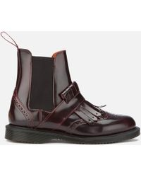 Dr. Martens - Women's Tina Arcadia Leather Kiltie Chelsea Boots - Lyst