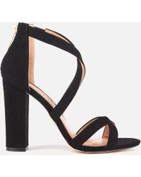 Miss Kg - Faun Suedette Strappy Heeled Sandals - Lyst