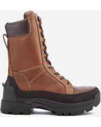 HUNTER - Men's Field Lace Up Tall Boots - Lyst