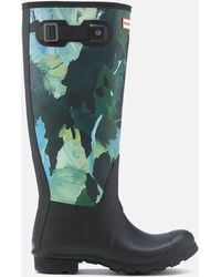 HUNTER - Original Tall Botanical Print Wellies - Lyst