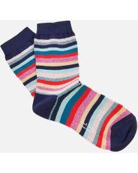 PS by Paul Smith - Clarissa Lurex Swirl Socks - Lyst