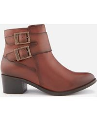 Barbour - Inglewood Leather Buckle Heeled Ankle Boots - Lyst