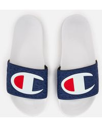 Champion - Logo Pool Slide Sandals - Lyst