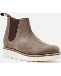 GRENSON | Women's Lydia Suede Chelsea Boots | Lyst