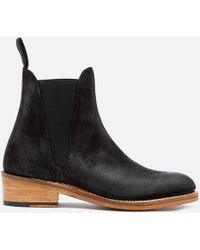 Grenson - Women's Nora Burnished Suede Chelsea Boots - Lyst