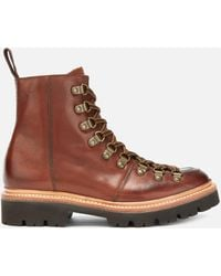 Grenson Nanette Hand Painted Leather Hiking Style Boots