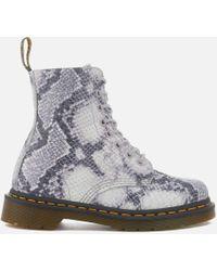 Dr. Martens - Women's Pascal Snake 8eye Boots - Lyst