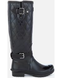 Barbour - Women's Lindisfarne Slim Quilted Leg Wellies - Lyst