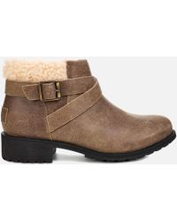 UGG - Benson Waterproof Leather Ankle Boots - Lyst