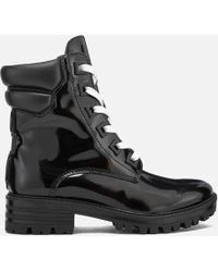 Kendall + Kylie - Women's East Leather Lace Up Boots - Lyst