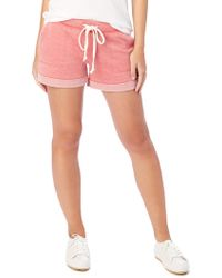 Alternative Apparel - Lounge Burnout French Terry Shorts - Lyst