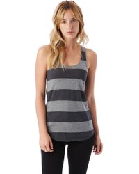 Alternative Apparel - Meegs Printed Racerback Eco-jersey Tank Top - Lyst