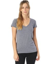 Alternative Apparel - Keepsake Vintage Jersey V-neck T-shirt - Lyst