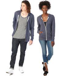 Alternative Apparel - Basic Eco-jersey Zip Hoodie - Lyst
