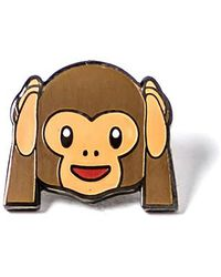 Alternative Apparel - Pintrill Monkey Hear No Evil Pin - Lyst