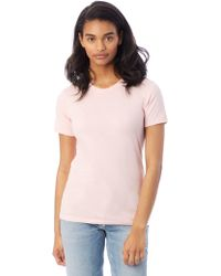 Alternative Apparel - Basic Womens Crew T-shirt - Lyst
