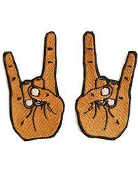 Alternative Apparel - Tulipcake Heavy Metal Hands Duo Patch - Lyst