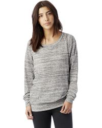 Alternative Apparel - Slouchy Space-dye Eco-jersey Pullover - Lyst