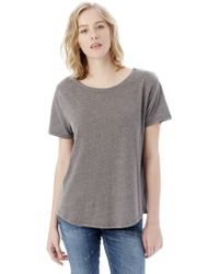 Alternative Apparel   Backstage Vintage Jersey T-shirt   Lyst