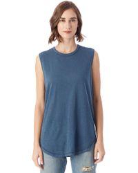 Alternative Apparel - Inside Out Garment Dyed Slub Sleeveless T-shirt - Lyst