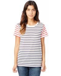 Alternative Apparel - Ideal Striped Eco-jersey T-shirt - Lyst
