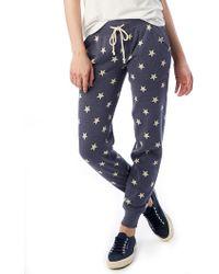 Alternative Apparel - Star Print Fleece Jogger Pants - Lyst