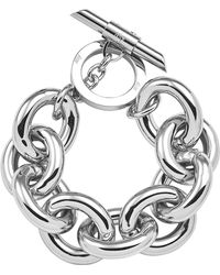 Amanda Wakeley - Chunky Silver Bracelet - Lyst