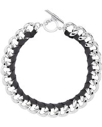 Amanda Wakeley - Chunky Silver Ribbon Necklace - Lyst