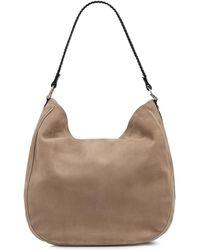 Amanda Wakeley - Large Suede Mara Hobo Bag In Sand - Lyst