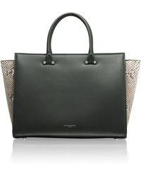 Amanda Wakeley - Eastwood Raven Python Handbag - Lyst