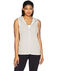 Nanette Lepore - Zip Front Sleeveless Hoodie - Lyst