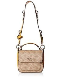 d1b7eee8fbe6 Lyst - Guess Kathryn 4g Mini Shoulder Bag
