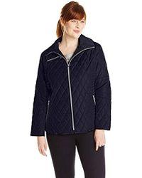 25d4c4f7097 Jessica Simpson - Plus-size Mixed-quilt Jacket - Lyst