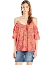 Plenty by Tracy Reese - Cold Shoulder Peasant Xs-l, - Lyst